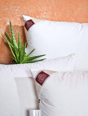 Подушка «3D Aloe Vera Grass» - белый гусиный пух