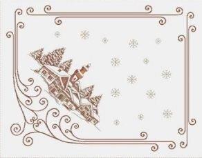 Салфетка под приборы Новогоднее шале
