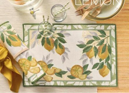 Салфетка под приборы Лимончики