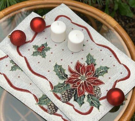 Салфетка под приборы Рождественская звезда