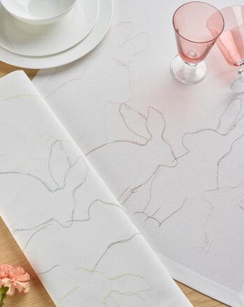 Декоративная дорожка с вышивкой кролик Hopper