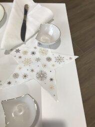 Декоративная салфетка с вышивкой STAR