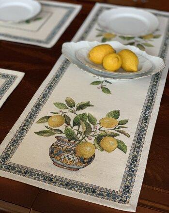 Салфетка под приборы Лимоны букет
