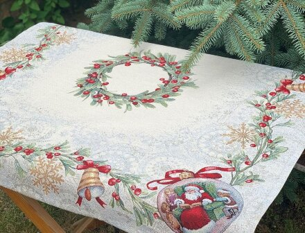 Салфетка под приборы Рождественский венок