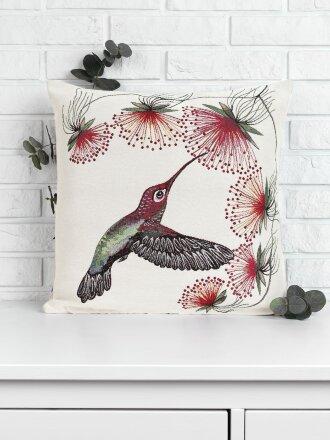 Подушка серия Колибри и цветы