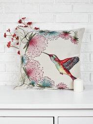 Подушка серия Колибри и цветы (2)