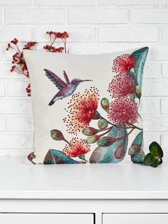 Подушка серия Колибри и цветы (3)
