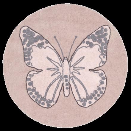 Ковер бабочка винтажный бежевый