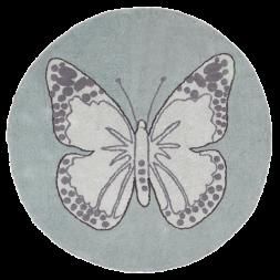 Ковер бабочка винтажный зеленый
