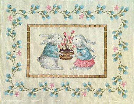 Салфетка под приборы Кролики