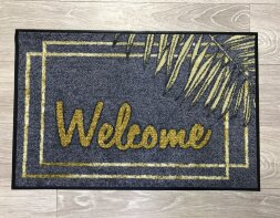 Коврик Welcome листья