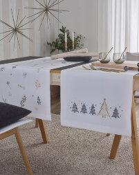 Декоративная дорожка с вышивкой GOLDEN TREES